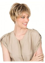 Short Remy Human Hair Mono Lace Wig