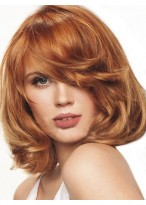 Bob Hairstyle Lovely Medium Wavy Lace Wig