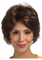 Short Synthetic Feathery Layered Style Gluless Lace Wig