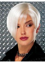 Monofilament Left Part with Lace Front Short Wig