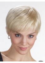 Women's Short Straight Lace Front Synthetic Wig