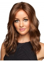 "18"" Lace Front Wavy Human Hair Wig"