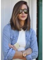 Medium Srtaight Lace Front Human Hair