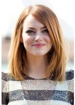 Human Straight Midium Lace Front Wig