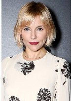 Blond Synthetic Lace Front Short Wig