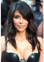 """16"""" Remy Human Hair Wavy Lace Front Wig"""
