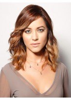 Soft Medium Length Remy Human Hair Full Lace Wig