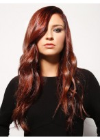 """24""""Wavy Polished Black Waves Lace Front Remy Human Hair Wig"""