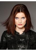 Medium Length Natural Straight Remy Human Hair Full Lace Wig