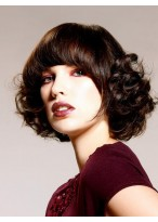 Medium Length Popular Curly Lace Front Wig