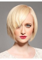 Medium Length Heat Resistant Straight Lace Front Wig