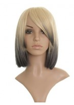 """12"""" Drew Barrymore Straight Synthetic Grey Wig"""
