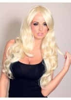 Liana - Long Blonde Wavy Wig With Wide Fringe