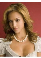 New Jessica Alba's Hairstyle Wig