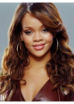 Rihanna Wavy Synthetic Celebrity Wig