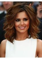 Cheryl Cole Shoulder Length Human Hair Tousled Waves Wig