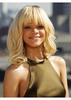 Most Popular Rihanna's Synthetic Roller Set Wavy Wig