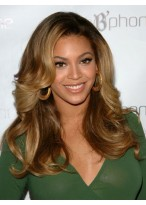 Super Sexy Beyonce's Long Wavy Human Hair Wig