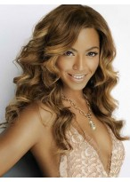 Beyonce Human Hair Long Lace Front Wavy Wig