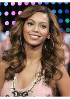 Beyonce Synthetic Long Roller Set Curls Wig