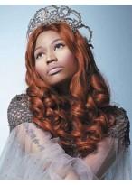 Nicki Minaj Long Length Brown Wavy Wig
