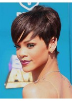 Sexy Beautiful Unique Rihanna Hairstyle Short Straight Wig