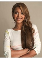 Fabulous Free Style Beyonce Hairstyle Long Wavy Full Lace Wig