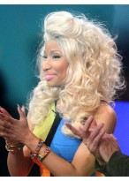 Amazing And Sexy Nicki Minaj Hairstyle Human Hair Wave Curly Wig