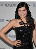 Wonderful Long Wavy Jessie J Remy Human Hair Lace Front Wig for Woman