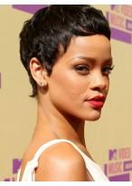Rihanna's Short Capless Heat Friendly Synthetic Wig
