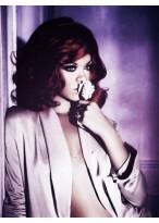 Cool Rihanna's Short Wavy Human Hair Wig