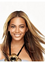 Beyonce Long Straight Stylish Synthetic Wig