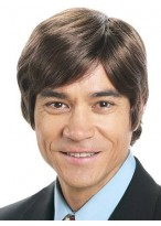 """4"""" Straight Capless Synthetic Mens Wig"""
