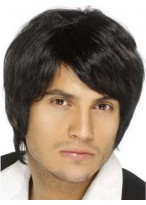 Human Hair Fashion Mens Capless Wig