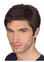 100% Human Hair Chic Cool Men's Full Lace Wig