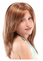 Double-layered Full Lace Girl's Wig
