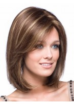 Shoulder Length Straight Bob Lace Front Wig