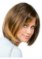 Straight Synthetic Chin Length Bob Wig