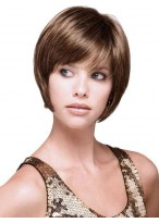 Synthetic Straight Short Bob Wig