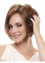 Synthetic Angled Layers Bob Wig