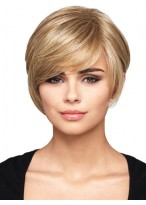 Synthetic Capless Forward Bob Wig