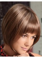 Sliky Straight Bob Cut Wig With Full Bangs