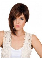 Synthetic Lace Front Longer Side Bob Wig
