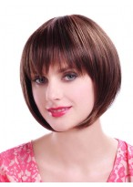 Short Chic Straight Synthetic Bob Wig