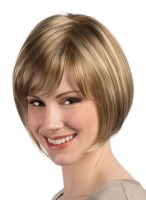 Silky Chin Length Light Blonde Bob Wig