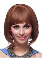 100% Remy Human Hair Full Fringe Bob Wig