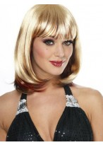 Blonde 90's Lady Wig With Full Bangs