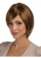 Medium Length Graduated Layered Bob Wig