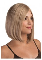 100% Hand-tied Back Medium Length Bob wig