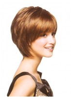 short bob wig with a perfect fringe